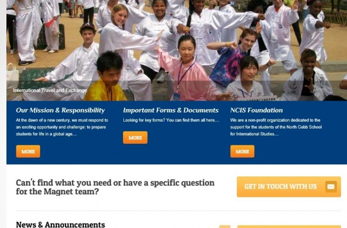 North Cobb High School Magnet Program (International Studies) launches new responsive website